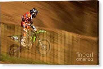 Motocross Canvas Print by Angel  Tarantella