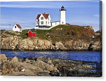 Navigation Canvas Print - Nubble Lighthouse by John Greim