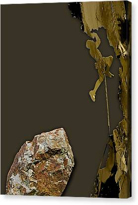 Climbing Canvas Print - Rock Climber Collection by Marvin Blaine