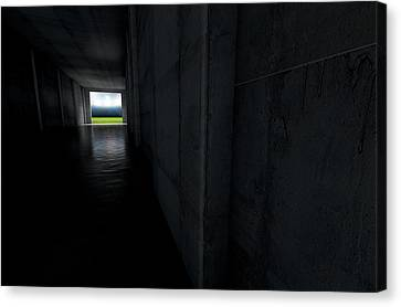 Sports Stadium Tunnel Canvas Print by Allan Swart