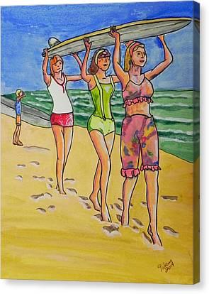 Surf Art Canvas Print by W Gilroy