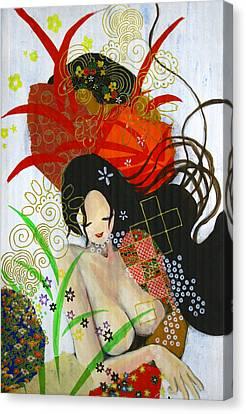 Ubume Canvas Print by Jung ji Lee
