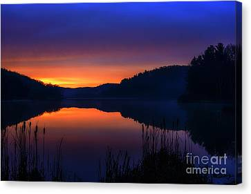 Canvas Print featuring the photograph Winter Dawn by Thomas R Fletcher