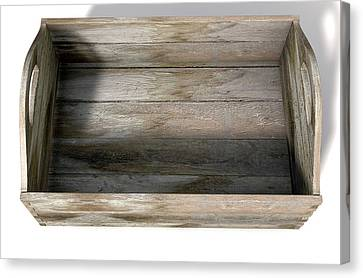 Pallet Canvas Print - Wooden Carry Crate by Allan Swart