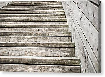 Wooden Steps Canvas Print by Tom Gowanlock