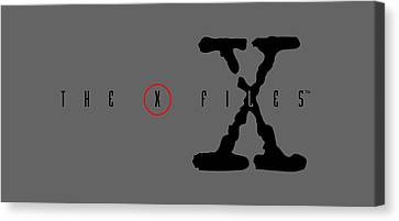 X-files, Alien, And Ufo Canvas Print by Mark Jen