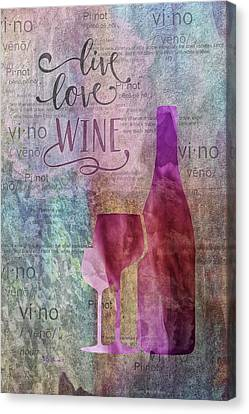 11024 Live Love Wine Canvas Print