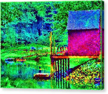 11052008a  Boat House On The Inlet Canvas Print by Ed Immar