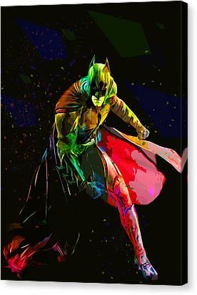 Batman Canvas Print by Elena Kosvincheva