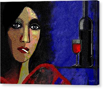 Beaujolais Canvas Print - 118 - Poster Marie In The Morning  by Irmgard Schoendorf Welch
