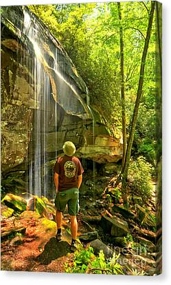 Pisgah National Forest Hiker Canvas Print by Adam Jewell