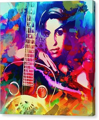 Amy Winehouse Canvas Print