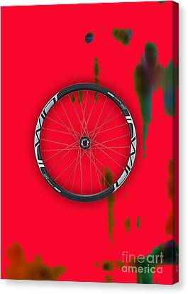 Bicycle Wheel Collection Canvas Print by Marvin Blaine