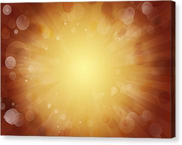 Sun Rays Canvas Print - Bright Background  by Les Cunliffe