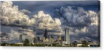 Charlotte North Carolina City Skyline Canvas Print by Alex Grichenko