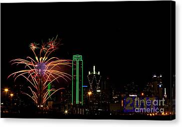 Dallas Texas - Fireworks Canvas Print