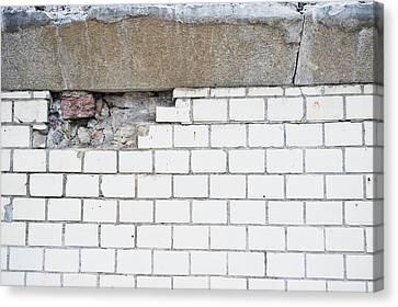 Asbestos Canvas Print - Damaged Wall by Tom Gowanlock