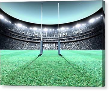Floodlit Stadium Night Canvas Print
