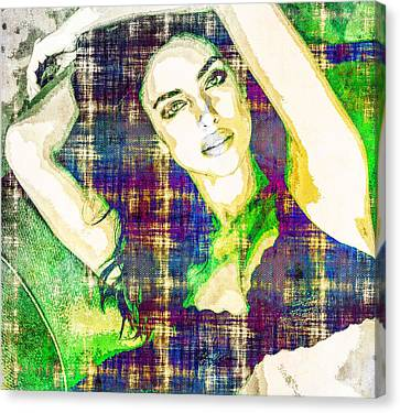Irina Shayk Canvas Print by Svelby Art