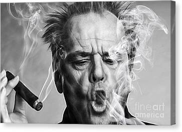 Jack Nicholson Collection Canvas Print by Marvin Blaine