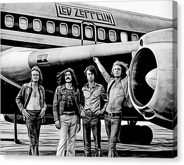Robert Plant Canvas Print - Led Zeppelin Collection by Marvin Blaine