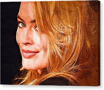 Margot Robbie Art Canvas Print by Best Actors