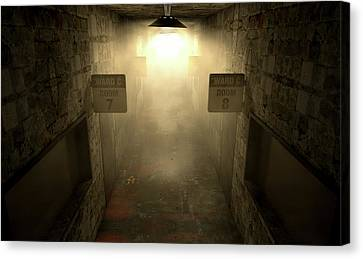 Psychiatric Canvas Print - Mental Asylum Haunted by Allan Swart