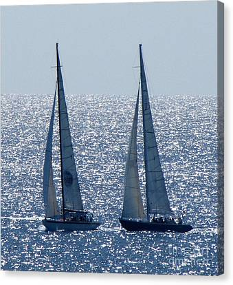 12 Meter Yachts Canvas Print