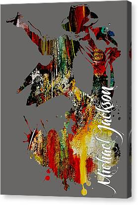 Michael Jackson Collection Canvas Print by Marvin Blaine