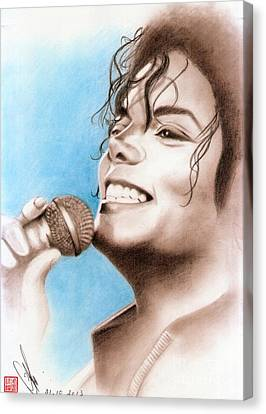 Michael Jackson #six Canvas Print by Eliza Lo