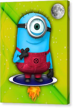 Movie Canvas Print - Minions Collection by Marvin Blaine