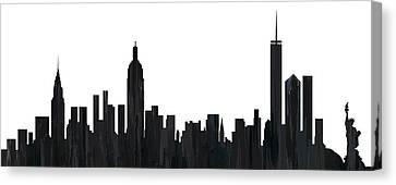 New York New York Skyline  Canvas Print by Marlene Watson