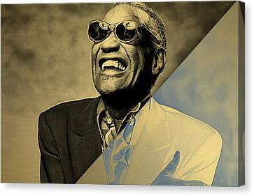 Ray Charles Collection Canvas Print by Marvin Blaine