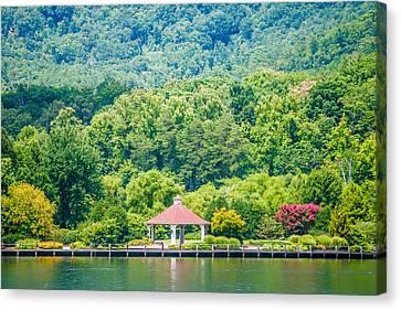 Scenery Around Lake Lure North Carolina Canvas Print by Alex Grichenko