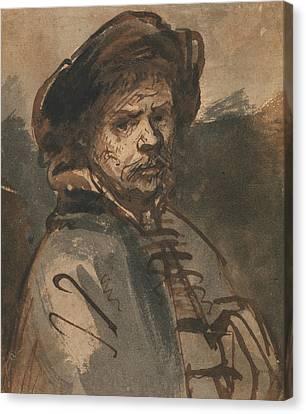 Self-portrait Canvas Print - Self-portrait by Rembrandt