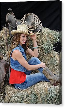 Sensual Cowgirl Poster or Canvas
