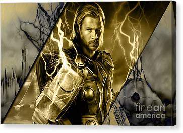 Thor Canvas Print - Thor Collection by Marvin Blaine