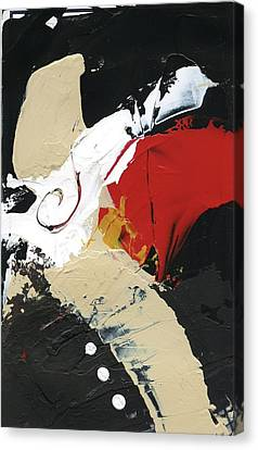 Canvas Print featuring the painting Three Color Palette by Michal Mitak Mahgerefteh