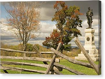 124th Pennsylvania Infantry Monument Canvas Print by Mick Burkey