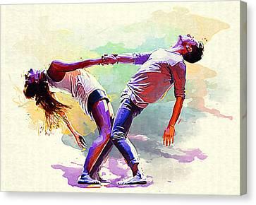 Dance. Canvas Print by Elena Kosvincheva