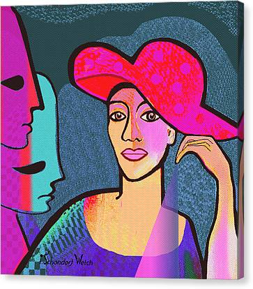 1296 - The Red Hat Canvas Print by Irmgard Schoendorf Welch