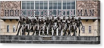 Statue Of David Canvas Print - 12th Man by Stephen Stookey