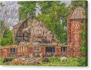 Barn Canvas Print by Dan Traun