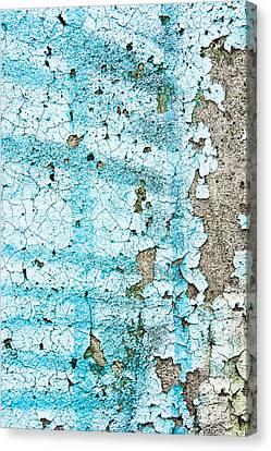 Blue Metal Canvas Print by Tom Gowanlock