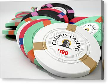 Casino Chips Canvas Print