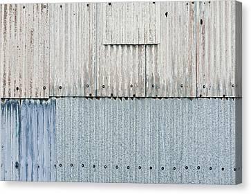 Corrugated Metal Canvas Print by Tom Gowanlock