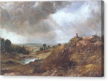 Branch Hill Pond Canvas Print - Hampstead Heath by John Constable