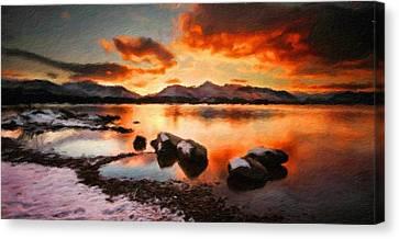 Landscape Nature Scene Canvas Print by Margaret J Rocha