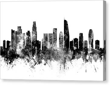 Los Angeles California Skyline Canvas Print