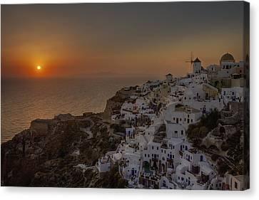 Mills Canvas Print - Oia - Santorini by Joana Kruse